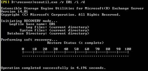 Exchange Database Repair Utility